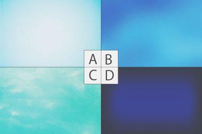 【心理テスト】4種類の青色、気になるものでわかるあなたを救うストレス解消法