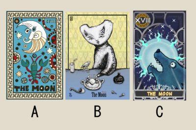 【タロット占い】選んだ「月」のタロットカードでわかる、あなたのツンデレ度