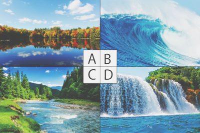 【心理テスト】好きな水の風景写真でわかる、あなたが放つオーラ