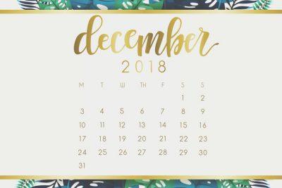 【12月の開運カレンダー】2018年最後の大吉日は12/3&7!