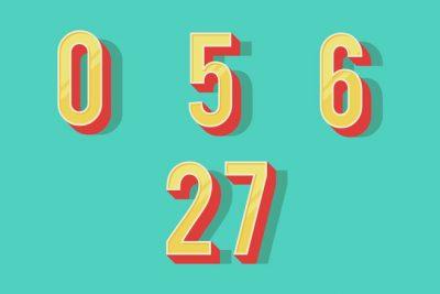 2019年のラッキーナンバーは「0」「5」「6」「27」!