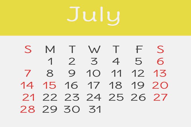 【7月の開運カレンダー】7月14日はスキルアップに適した日、ただし無茶は禁物!