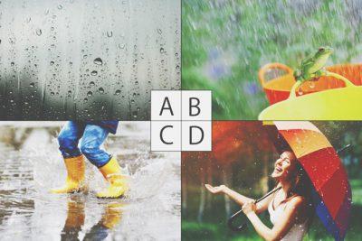 【心理テスト】梅雨のイメージはどれ? 答えでわかる、ストレス解消法