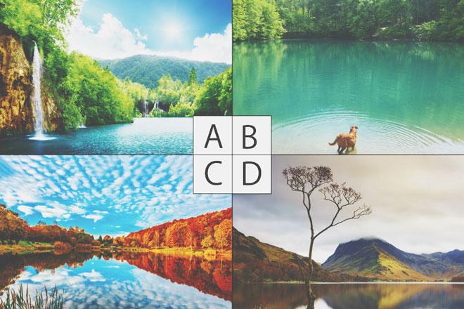 【心理テスト】夢にあらわれた湖はどれ? 答えでわかる愛に対する考え方