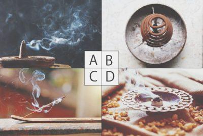 【心理テスト】4タイプのお香、どれを焚く? 答えでわかる今のあなたの浄化力